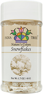 10812 Nature's Colors natural Snowflakes, Small Jar 1.7 oz, India Tree Storefront