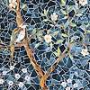 Chinoiserie, a hand-cut glass mosaic, shown in Emerald, Tourmaline, Labradorite, Opal, Tiger's Eye, Amber, Peridot, Champagne, Rose Quartz, and Pearl jewel glass with Marcasite Sea Glass™ is part of the Sea Glass™ Collection by New Ravenna.