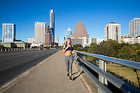 Austin is home to a huge running community that trains hard and plays hard. Running and jogging are the heartbeat of this fit city, Austin, Texas - Stock Image.