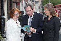 ***NO FEE PIC ***<br /> 13/06/2014<br /> (L to R) <br /> Marie O Connor Survivors of Symphysiotomy <br /> Mark Kelly ICCL (Irish Council for Civil Liberties)<br /> Hilkka Becker Immigrant Council of Ireland  <br /> during  the launch of the Civil Society Stakeholder Report tracking Ireland's record under the United Nations International Covenant on Civil and Political Rights at Buswell's hotel, Dublin.<br /> Photo:  Gareth Chaney Collins