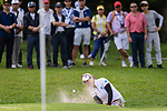 Supamas Sangchan of Thailand gets her ball out of a bunker during the first round of the EFG Hong Kong Ladies Open at the Hong Kong Golf Club Old Course on May 11, 2018 in Hong Kong. Photo by Marcio Rodrigo Machado / Power Sport Images