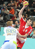 25.01.2013 Barcelona, Spain. IHF men's world championship, 3º/4º place. Picture show Domagoj Duvnjak in action during game between Slovenia vs Croatia at Palau St. Jordi