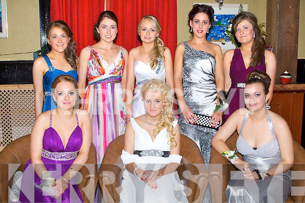 BALL: Having a wonderful time at the St Joesph's Presentation, Castleisland debs at the Abbeygate hotel, Tralee on Friday seated l-r: Megan Hartnett, Katie Prendeville and Christina Moore. Back l-r: Joanne Cremmins, Eilis Lynch, Kathy Hartnett, Aoife O'Sullivan and Katie O'Connor.