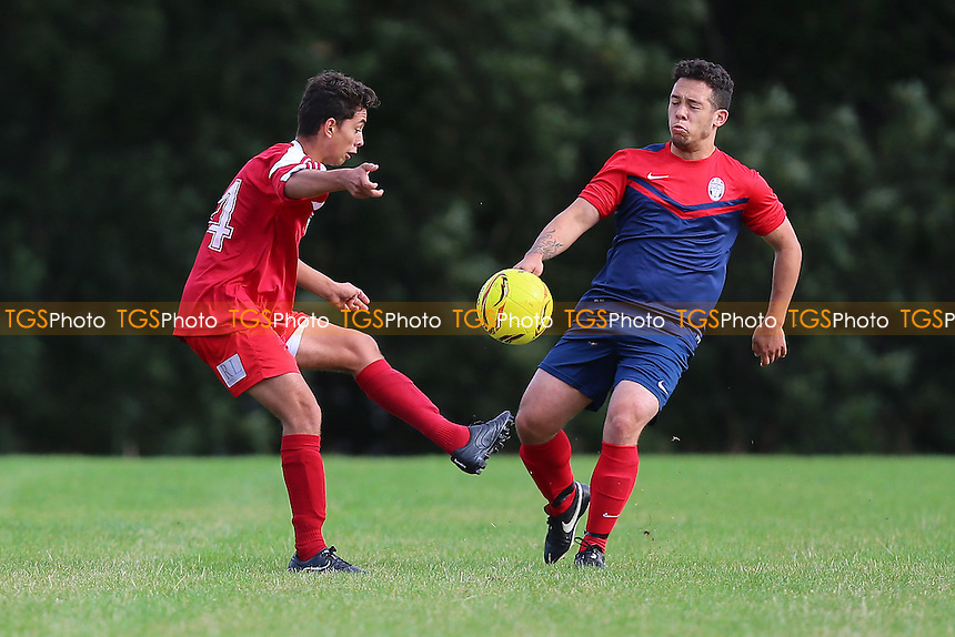 London United Sports (red/white) vs Shakespeare, Hackney & Leyton Sunday League Football at Hackney Marshes on 25th September 2016