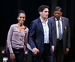 Kerry Washington, Steven Pasquale and Eugene Lee during the Broadway Opening Night Curtain Call for 'AMERICAN SON' at the Booth Theatre on November 4, 2018 in New York City.