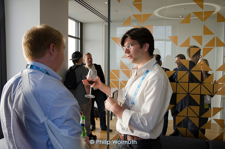 The Lounge.  Wired Money fintech event, Level39, Canary Wharf.