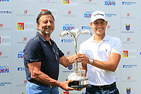 Sir Rocco Forte and Joakim Lagergren (SWE) during the final round of the Rocco Forte Sicilian Open played at Verdura Resort, Agrigento, Sicily, Italy 13/05/2018.<br /> Picture: Golffile | Phil Inglis<br /> <br /> <br /> All photo usage must carry mandatory copyright credit (&copy; Golffile | Phil Inglis)