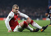 2nd November 2017, Emirates Stadium, London, England; UEFA Europa League group stage, Arsenal versus Red Star Belgrade; Jack Wilshere of Arsenal looking disappointed after not being awarded a penalty