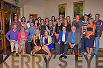 GOING AWAY PARTY: Louise Quill, Tralee and Deirdre Burke, Ardfert (seated centre) who going to volunteer at Tir na nOg orphanage, Tanzania enjoying their going away party with family and firends at the Strand Road clubhouse, Tralee on Friday.