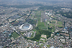 Musashino Forest Park: Tokyo, Japan: Aerial view of proposed venue for the 2020 Summer Olympic Games. (Photo by AFLO)