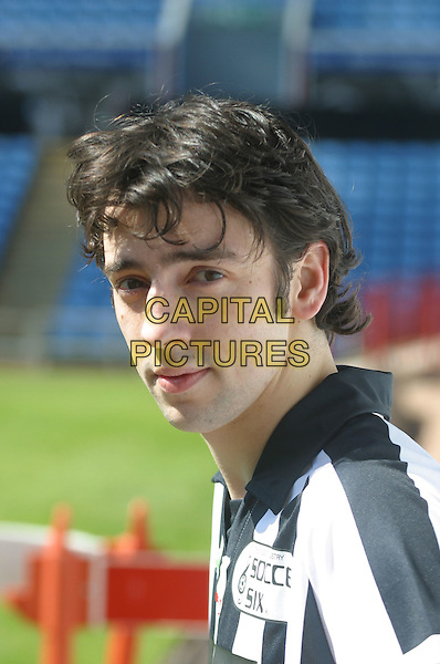 RALPH LITTLE.10th Annual Music Inductry Soccer Six Tournament, Aston Villa Football Ground, Birmingham..May 15th, 2005..portrait headshot black and white striped football shirt kit .Ref: JEZ.www.capitalpictures.com.sales@capitalpictures.com.©Jez C. Self/Capital Pictures