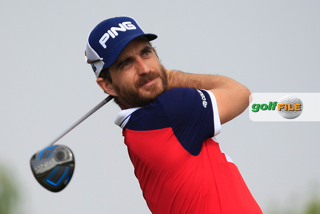 Alejandro Canizares (ESP) on the 6th tee during Round 4 of the Abu Dhabi HSBC Championship on Sunday 22nd January 2017.<br /> Picture:  Thos Caffrey / Golffile<br /> <br /> All photo usage must carry mandatory copyright credit     (&copy; Golffile | Thos Caffrey)