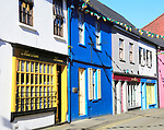 Colourful shops historic buildings,  Kinsale, County Cork, Ireland, Irish Republic
