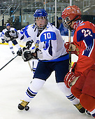 Iiro Pakarinen (Finland - 10), Nikita Zaycev (Russia - 22) - Russia defeated Finland 4-0 at the Urban Plains Center in Fargo, North Dakota, on Friday, April 17, 2009, in their semi-final match during the 2009 World Under 18 Championship.