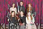Pictured at the Kerry School of Music awards held in The Malton hotel, Killarney on Sunday night were Catriona Fitzmaurice, Caoimhe Doyle, Emily McCarthy, Aideen O'Connor, Maurice Tracey and Meadhbh Tracey...