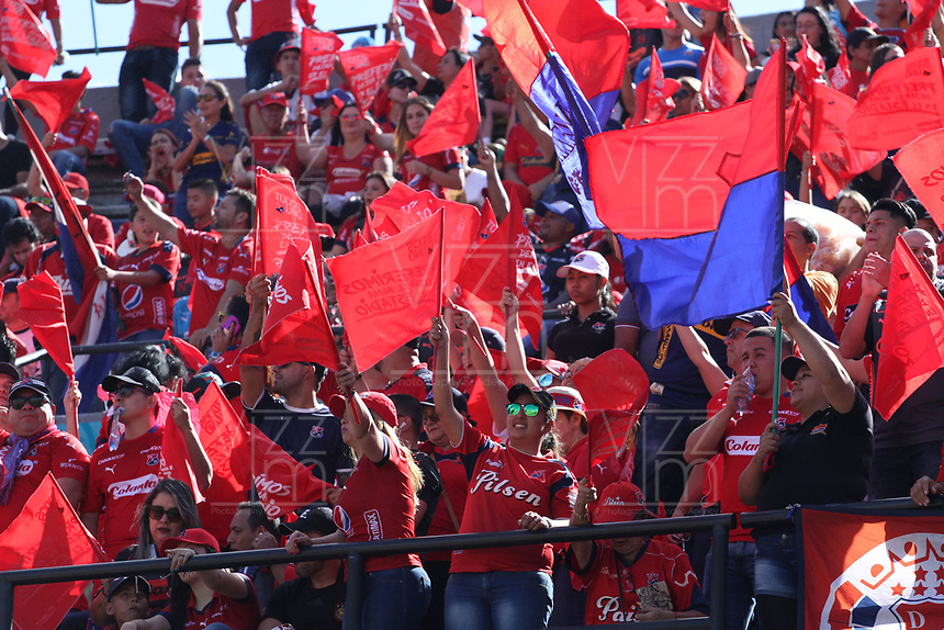 MEDELLÍN- COLOMBIA, 16-12-2018.Hinchas del Independiente Medellín antes del encuentro entre los equipos Independiente Medellín y el Atlético Junior   partido por la final  de la Liga Águila II 2018 jugado en el Estadio Atanasio Girardot de la ciudad de Medellín. / Fans of  Independiente Medellin before match agaisnt of  Atletico Junior  during the final  match of the Liga Águila II 2018 played at the Atanasio Girardot Stadium in the city of Medellín. . Photo: VizzorImage / Felipe Caicedo / Staff