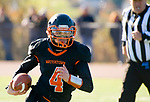 WATERTOWN, CT-112317JS09- Watertown's Nick D'Elia (4) runs for a first down during their Thanksgiving Day game against Torrington Thursday at Watertown High School. <br /> Jim Shannon Republican-American