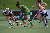 Action from the women's National Hockey League final between Harbour and Central at National Hockey Stadium in Wellington, New Zealand on Sunday, 23 September 2018. Photo: Dave Lintott / lintottphoto.co.nz