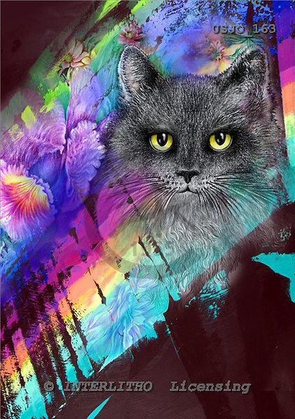 Marie, REALISTIC ANIMALS, REALISTISCHE TIERE, ANIMALES REALISTICOS, paintings+++++,USJO163,#A# ,Joan Marie cat