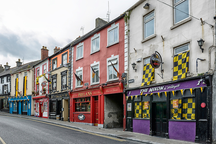 View of a block of Parliament Street in Kilkenny, Ireland
