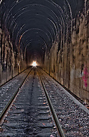 A HDR image of the Train tunnel at Winslow Arkansas which was completed in 1882 at a cost of $200,00 and is 428 feet long.
