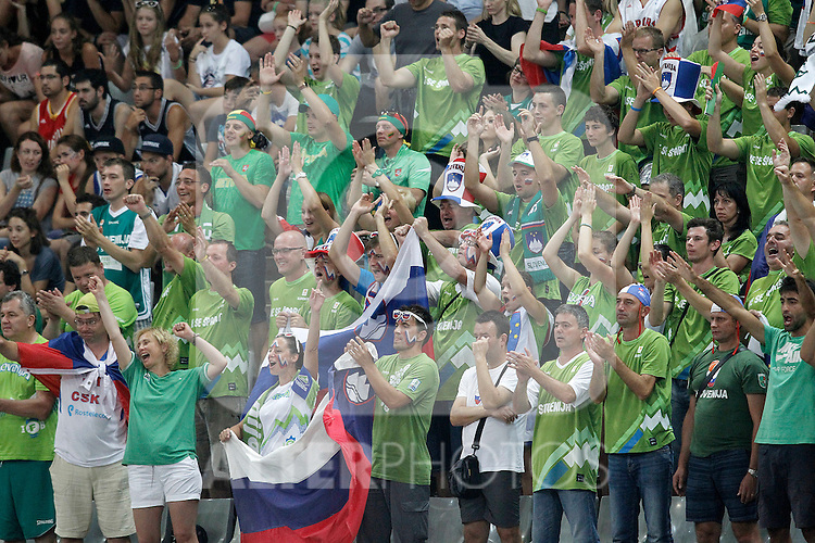 Slovenia's supporters during 2014 FIBA Basketball World Cup Quarter-Finals match.September 9,2014.(ALTERPHOTOS/Acero)