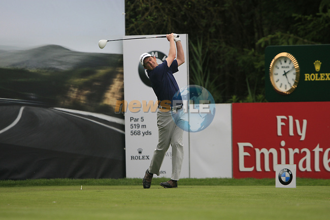 Peter Lawrie (IRL) tees off on the 18th hole during of Day 3 of the BMW International Open at Golf Club Munchen Eichenried, Germany, 25th June 2011 (Photo Eoin Clarke/www.golffile.ie)