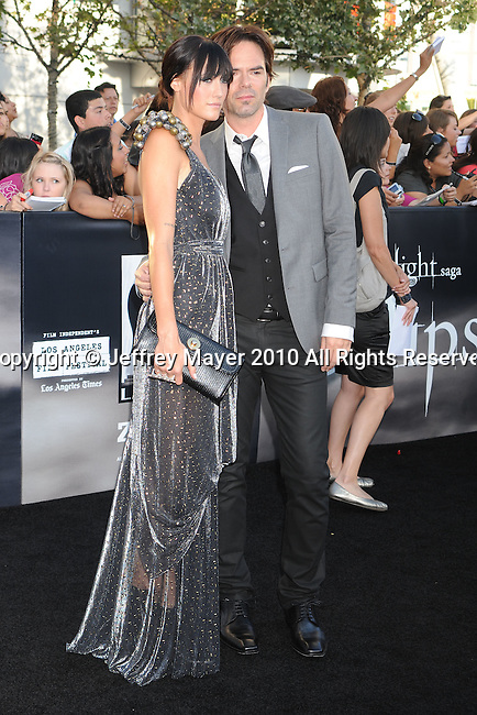 "LOS ANGELES, CA. - June 24: Pollyanna Rose and Billy Burke arrive to the premiere of ""The Twilight Saga: Eclipse"" during the 2010 Los Angeles Film Festival at Nokia Theatre L.A. Live on June 24, 2010 in Los Angeles, California."