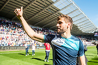 Fernando Llorente of Swansea City gives the thumbs up to fans after the Premier League match between Swansea City and West Bromwich Albion at The Liberty Stadium, Swansea, Wales, UK. Sunday 21 May 2017 (Photo by Athena Pictures/Getty Images)