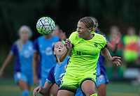 Seattle, WA - Saturday July 23, 2016: Merritt Mathias during a regular season National Women's Soccer League (NWSL) match between the Seattle Reign FC and the Orlando Pride at Memorial Stadium.