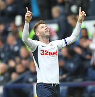 Preston North End's Paul Gallagher celebrates scoring his sides third goal <br /> <br /> Photographer Mick Walker/CameraSport<br /> <br /> The EFL Sky Bet Championship - Preston North End v Wigan Athletic - Saturday 10th August 2019 - Deepdale Stadium - Preston<br /> <br /> World Copyright © 2019 CameraSport. All rights reserved. 43 Linden Ave. Countesthorpe. Leicester. England. LE8 5PG - Tel: +44 (0) 116 277 4147 - admin@camerasport.com - www.camerasport.com