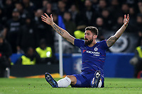 Chelsea's Olivier Giroud appeals for a free-kick during Chelsea vs PAOK Salonika, UEFA Europa League Football at Stamford Bridge on 29th November 2018