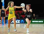 5th October 2017, Spark Arena, Auckland, New Zealand; Constellation Cup, New Zealand Silver Ferns versus Australia Diamonds;   New Zealand's Samantha Sinclair