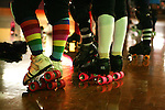 February 19, 2008; Santa Cruz, CA, USA; Detailed view of roller skates during Santa Cruz Rollergirls practice in Santa Cruz, CA. Photo by: Phillip Carter