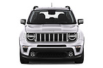 Car photography straight front view of a 2019 JEEP Renegade Limited 5 Door SUV Front View