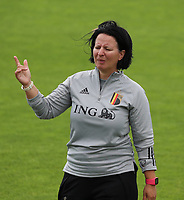 20200627 - TUBIZE , Belgium : Head coach Tamara Cassimons is pictured during a training session of the Belgian Red Flames U17, on the 27 th of June 2020 in Tubize.  PHOTO SEVIL OKTEM| SPORTPIX.BE