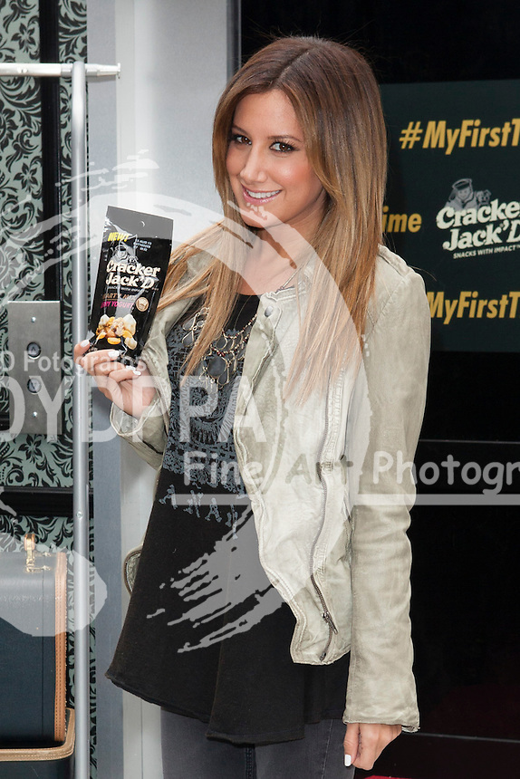 Ashley Tisdale. NYC. New York City. USA. Ashley Tisdale Promotes 'First Time With Cracker Jack D.' Photo by  Media Punch/Unimedia/DyD Fotografos