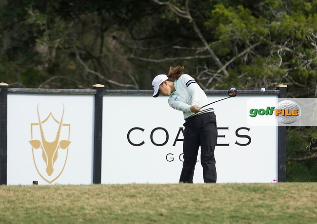 Lydia Ko hits her teeshot on the 16th during the Second Day of the Third round of the LPGA Coates Golf Championship 2016 , from the Golden Ocala Golf and Equestrian Club, Ocala, Florida. 6/2/16<br /> Picture: Mark Davison | Golffile<br /> <br /> <br /> All photos usage must carry mandatory copyright credit (&copy; Golffile | Mark Davison)