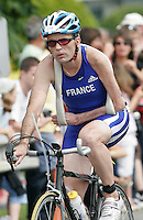 15 JUL 2007 - LORIENT, FRA - Jean Pierre Astugue (FRA) - World AWAD Long Distance Triathlon Championships. (PHOTO (C) NIGEL FARROW)