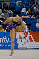 Dora Vass (HUN) performs with the hoop during the final of the 2nd Garantiqa Rythmic Gymnastics World Cup held in Debrecen, Hungary. Sunday, 07. March 2010. ATTILA VOLGYI