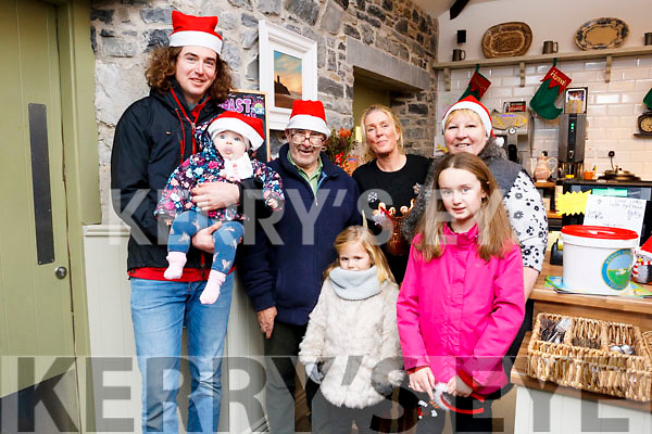 Coast Cafe, Ballybunion, Lighting of Kerry Hospice Tree buy a bauble for a loved one. L-r Reiltin Walsh, Brendan Walsh, Pat Derek King, Eilleen Kiely (perproitor) Kathleen Coyle, Cliona Buckley and Molly Mallon.