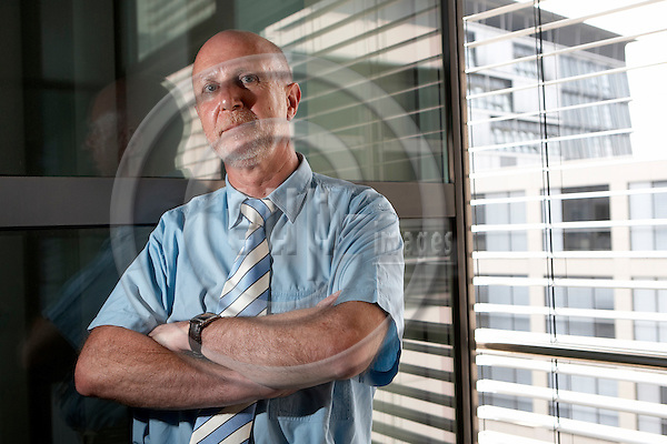 "BERLIN - GERMANY 07. JULY 2006 -- Gerd Opdenberg, representative of the works council in the Allianz Insurance in the Treptowers in Berlin -- PHOTO: CHRISTIAN T. JOERGENSEN / EUP & IMAGES..This image is delivered according to terms set out in ""Terms - Prices & Terms"". (Please see www.eup-images.com for more details)"