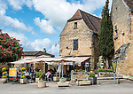 Le Médiéval, a brasserie and bar in the village of Domme, on the River Dordogne.