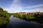The village of West Tanfield spring time, on the river Ure. North Yorkshire, England.