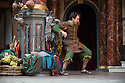 London, UK. 03.09.2014. THE COMEDY OF ERRORS, by William Shakespeare, opens at Shakespeare's Globe, directed by Blanche McIntyre. Picture shows: Jamie Wilkes (Dromio of Ephesus). Photograph © Jane Hobson.