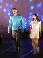 15-02-2006,Rotterdam, ABNAMROWTT , modeshow, Sjeng Schalken op de catwalk