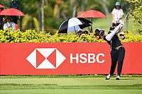 SINGAPORE - MARCH 03: Ariya Jutanugarn of Thailand on the 3rd tee during the final round of the HSBC Women's World Championship 2019 at Sentosa Golf Club - Tanjong Course, Singapore on March 03, 2019.<br /> .<br /> .<br /> .<br /> (Photo by: Naratip Golf Srisupab/SEALs Sports Images)<br /> .<br /> Any image use must include a mandatory credit line adjacent to the content which should read: Naratip Golf Srisupab/SEALs Sports Images