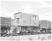 W. A. Smith contractor engine #2 used in construction around the Navajo Dam area.<br /> WAS  Arboles MP402.5, CO  Taken by Payne, Andy M. - 7/24/1962