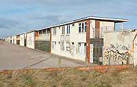Derelict holiday village on the outskirts of Blackpool, Lancashire.
