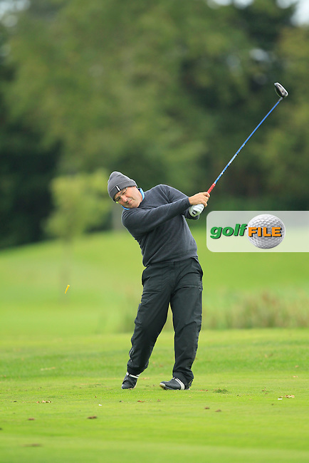 Gerry Burke (Curragh G.C) on the 15th tee during Round 3 of The Cassidy Golf 103rd Irish PGA Championship in Roganstown Golf Club on Saturday 12th October 2013.<br /> Picture:  Thos Caffrey / www.golffile.ie
